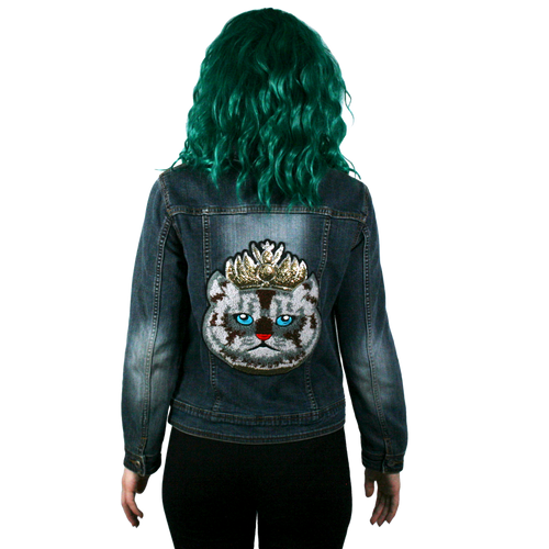 Cat Queen Denim Jacket