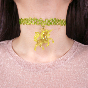 Green Unicorn Choker