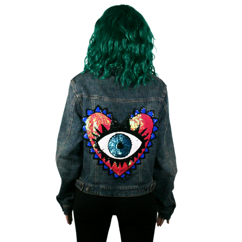 Heart Eye Denim Jacket