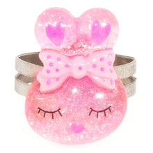 Light Pink Sparkly Bunny Ring