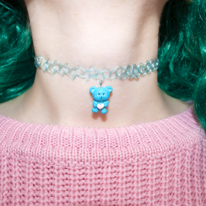 Blue Teddy Choker
