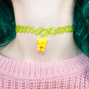 Green Teddy Choker