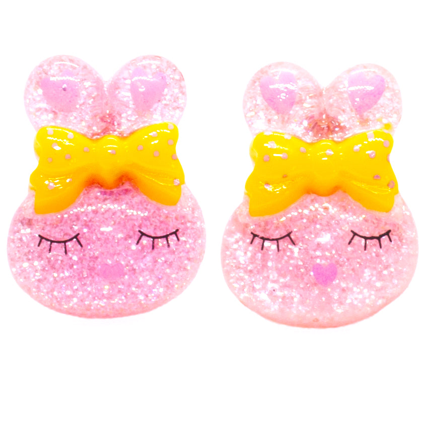 Pink Bunny Earrings