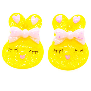 Yellow Bunny Earrings