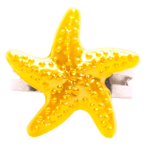Orange Starfish Ring
