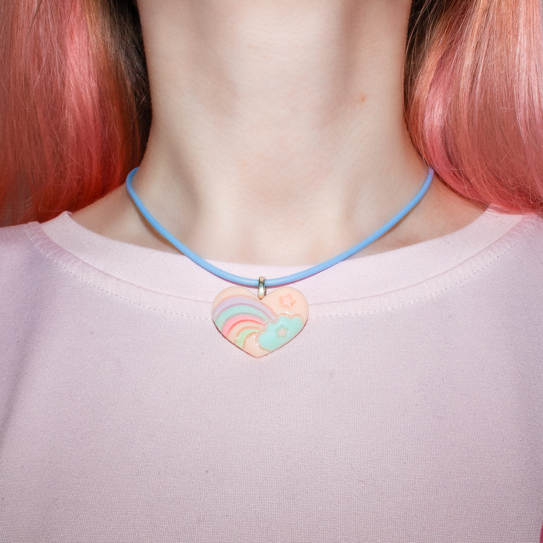 Pastel Heart Necklace