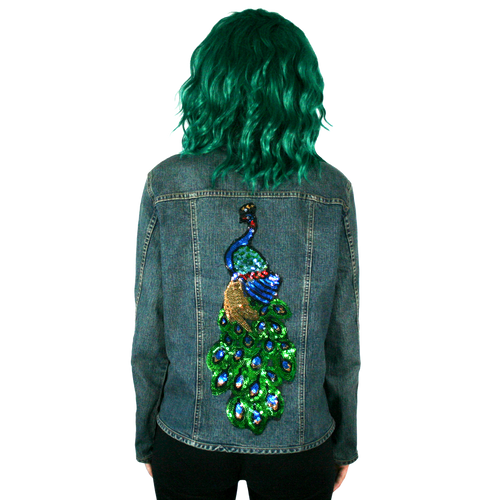 Peacock Denim Jacket