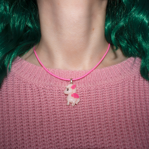 Pink Pegasus Necklace