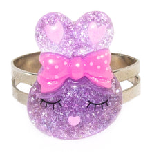Purple Sparkly Bunny Ring