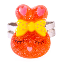 Red Sparkly Bunny Ring