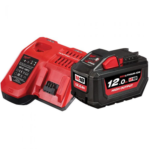Milwaukee M18 REDLITHIUM High Output 12.0Ah Starter Pack - M18HOSP-121B