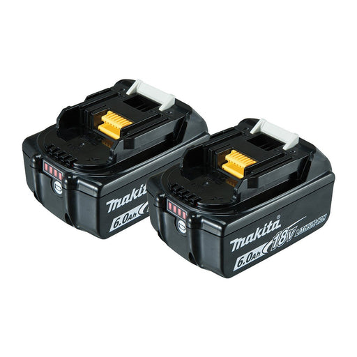 Makita 18V 6.0Ah Battery with fuel gauge indicator - Twin Pack 198490-0