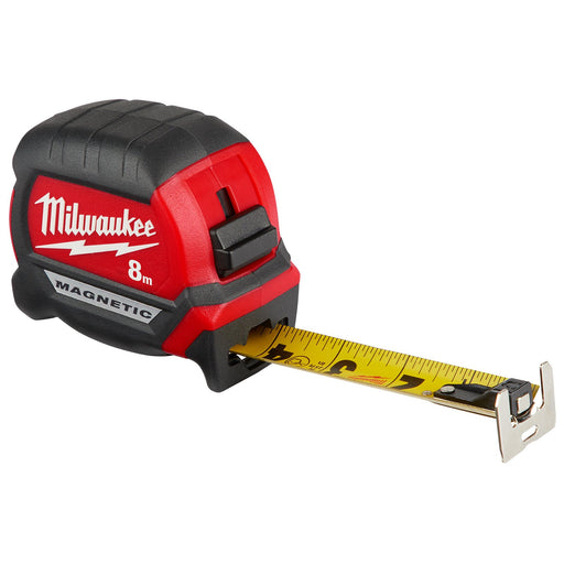 Milwaukee 8m Compact Magnetic Tape Measure 48220508