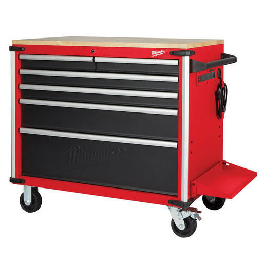 "Milwaukee 40"" Mobile Work Bench Wood Top 48228537"
