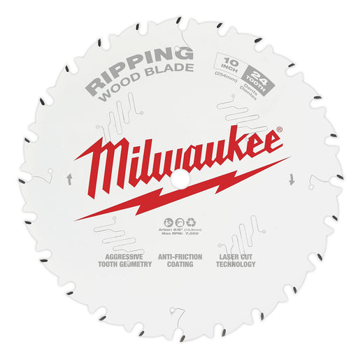 "Milwaukee 10"" 254mm 24T Ripping Blade 48408020"