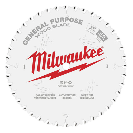 "Milwaukee 10"" 254mm 40T General Purpose Blade 48408024"
