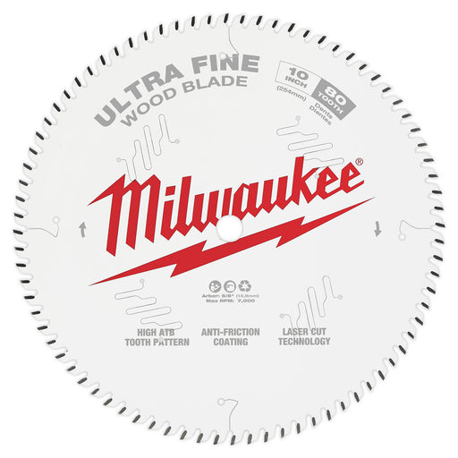 "Milwaukee 10"" 254mm 60T Ultra Fine Blade 48408032"