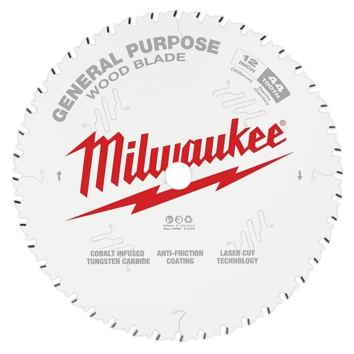 "Milwaukee 12"" 305mm 44T General Purpose Blade 48408220"
