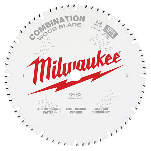 "Milwaukee 12"" 305mm 50T Combination Blade 48408222"
