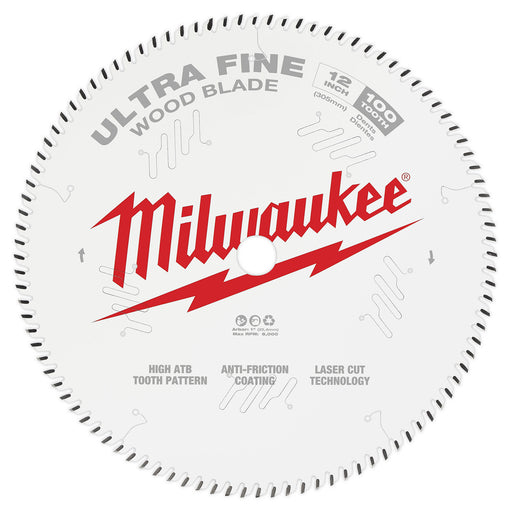 "Milwaukee 12"" 305mm 60T Ultra Fine Blade 48408228"