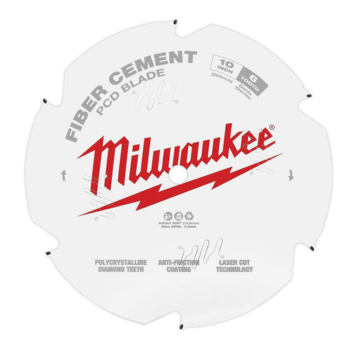 "Milwaukee 10"" 254mm PCD / Fibre Cement Blade 48409010"