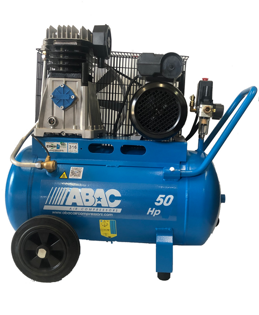 ABAC 3.0HP 50 LITRE BELT DRIVE AIR COMPRESSOR A39-50-3