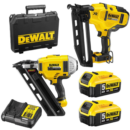 DeWalt  18V 5.0Ah Li-ion Cordless Brushless Nailer 2pce Combo Kit DCZ269P2-XE