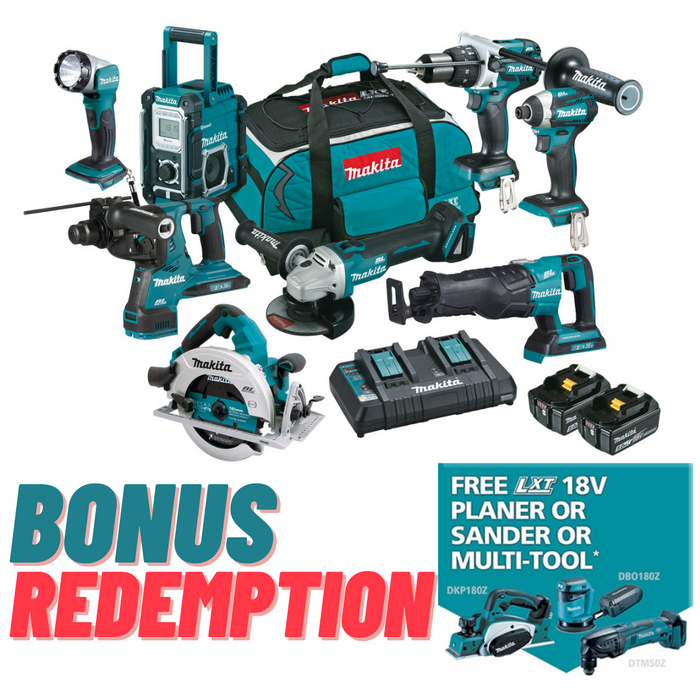 Makita 18V Brushless 8 Piece Combo DLX8027PT1