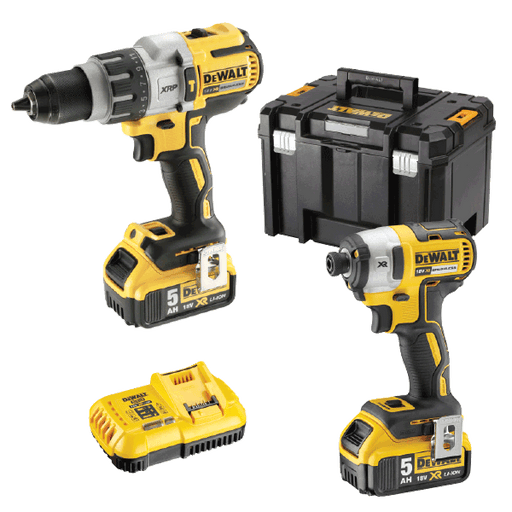 DeWalt 18V 2 Piece 5.0Ah XR Brushless Combo Kit DCK296P2T-XE