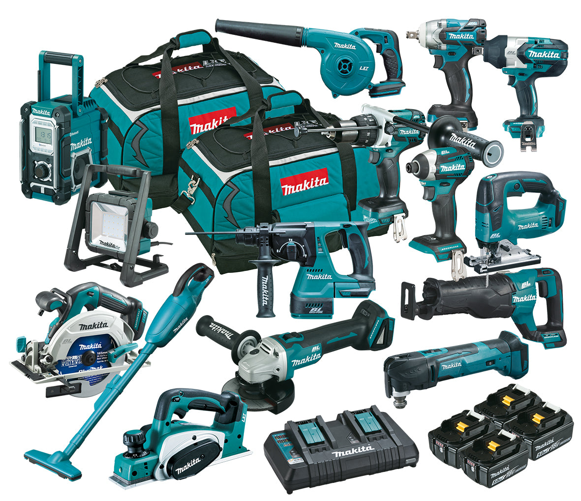 Makita 18V Brushless 15 Pce Combo Kit DLX1502PT