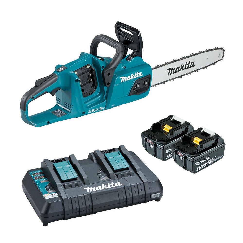 "Makita 18Vx2 400mm(16"") Brushless Chainsaw 5.0Ah Set DUC405PT2"