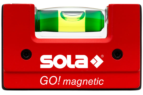 SOLA Go! Magnetic Compact Spirit Level with Belt Clip GOMAGC
