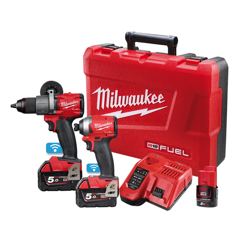 Milwaukee M18 ONE-KEY Power Pack 2A2 (M18ONEPD2-0, M18ONEID2-0)  Bonus M12B2 M18ONEPP2A2-502C