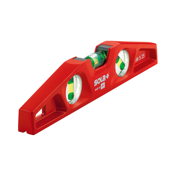 SOLA Die-Cast Torpedo 25cm Spirit Level- Magnetic MM525