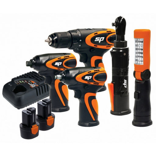 SP Tools CORDLESS 12V COMBO KIT- 3/8 IMPACT WRENCH - DRILL SP82146