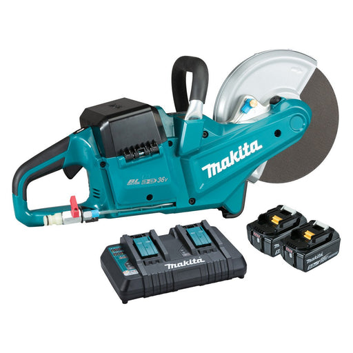 "Makita 18Vx2 Brushless 230mm (9"") Powercut 5.0ah Set DCE090PT2"
