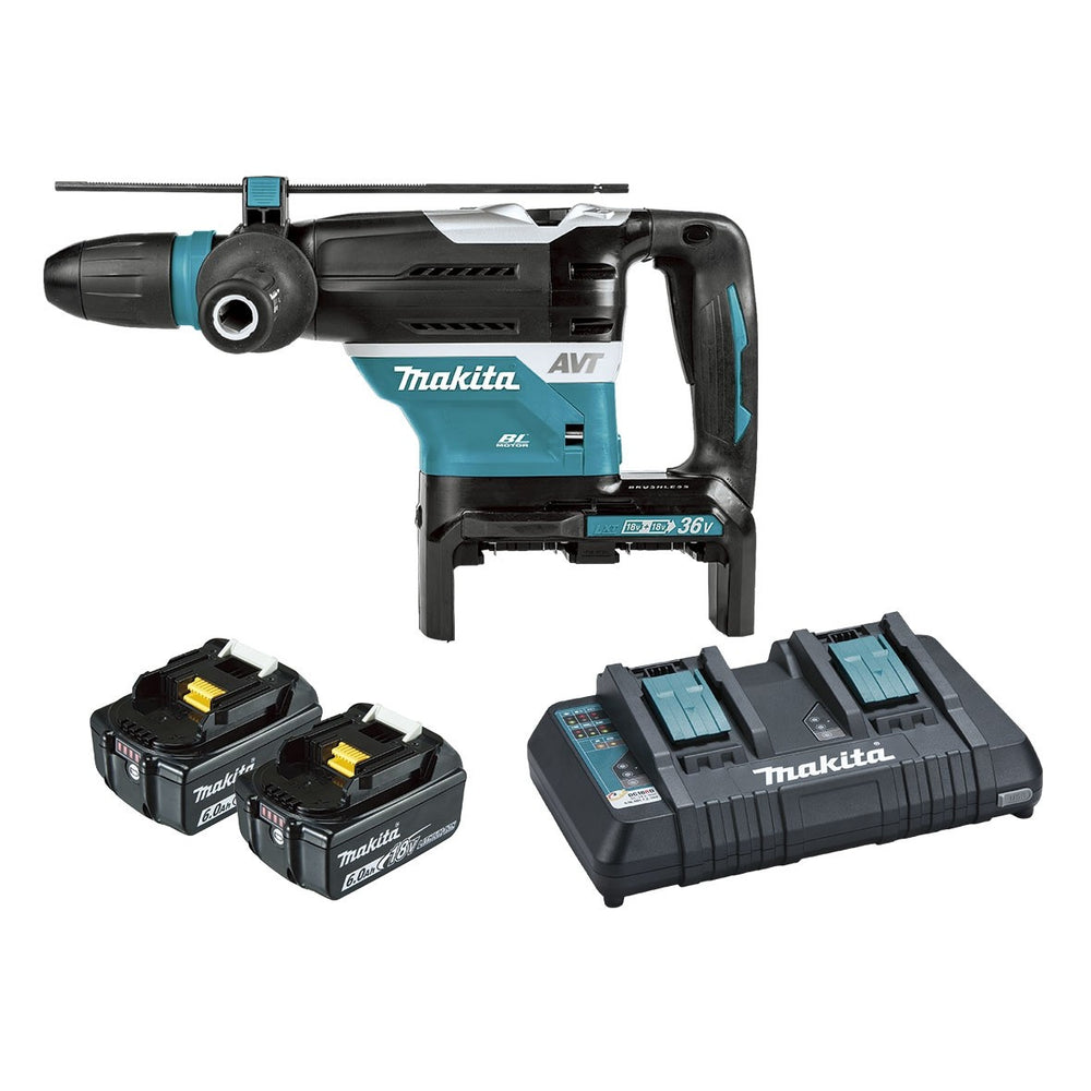 Makita 18Vx2 40mm SDS Max Rotary Hammer 6.0Ah Kit (AWS Compatible) DHR400PG2