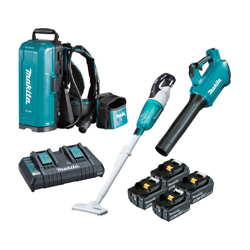 Makita 18V Brushless 2 Piece 4x 5.0ah Combo DLX2357TX1