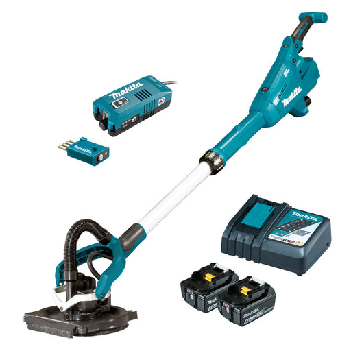 Makita 18V AWS 225mm Drywall Sander 5.0Ah Set DSL800RTUX