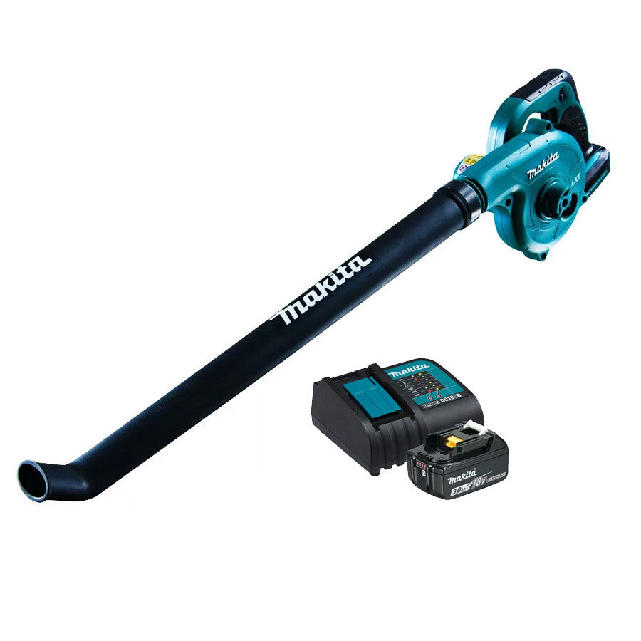 Makita 18V Blower Kit, Long Nozzle - Includes 1 x 3.0Ah Battery & Charger DUB183SF