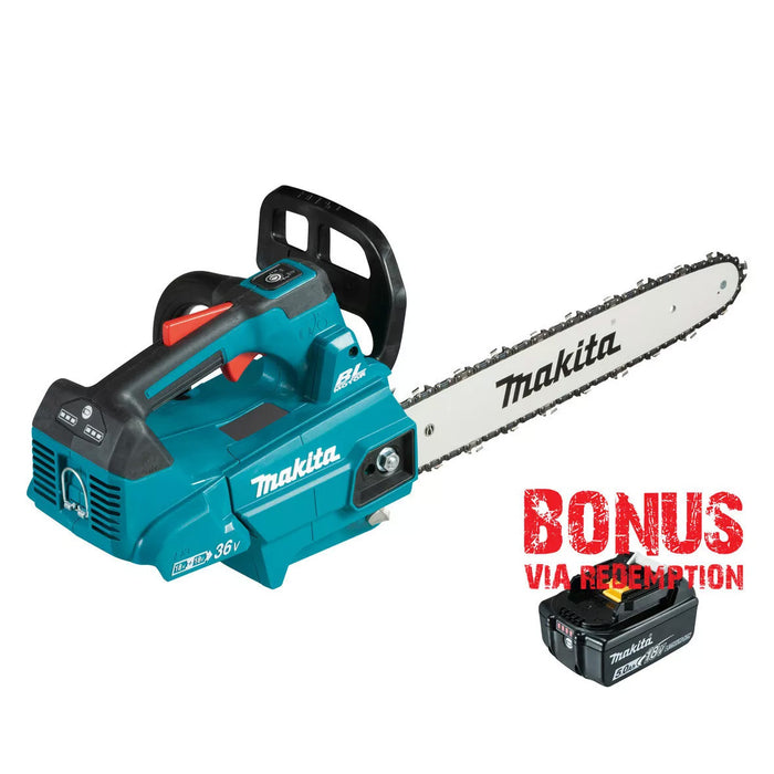 Makita 18Vx2 300mm BRUSHLESS Top Handle Chainsaw - Tool Only DUC306Z