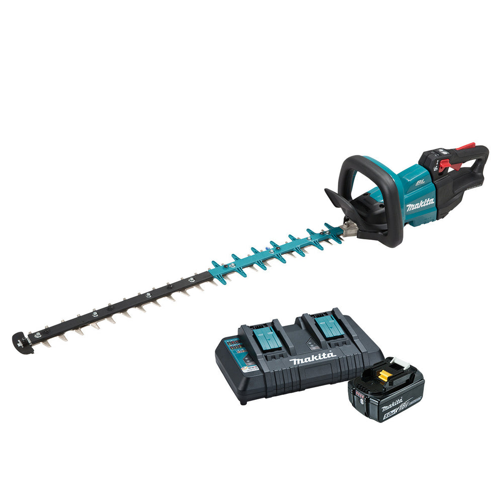 Makita 18V Brushless 750mm Hedge Trimmer 5.0Ah Set DUH751PT