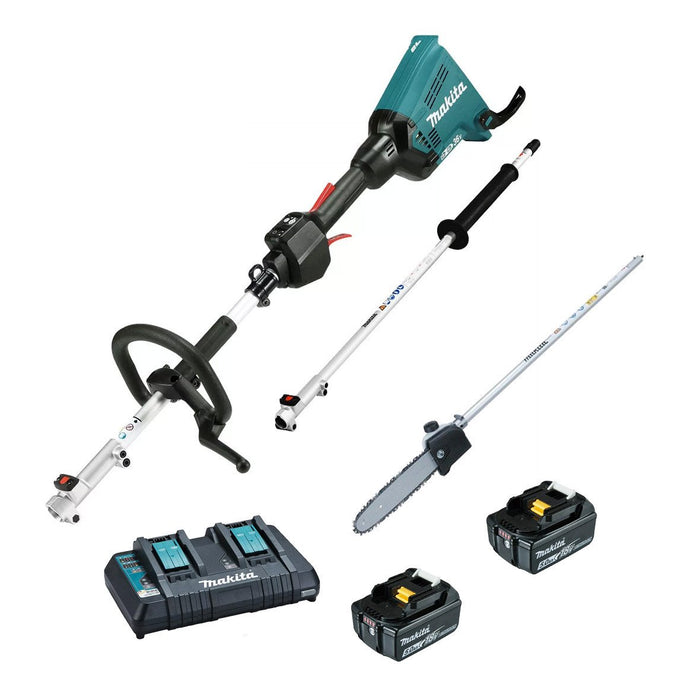 Makita 18Vx2 Brushless Multi-Function Powerhead & Pole Saw Kit DUX60PSPT2