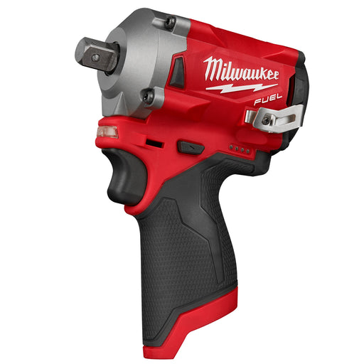 "Milwaukee 12V Fuel 1/2"" Stubby Impact Wrench w/Pin Detent (tool only) M12FIWP12-0"
