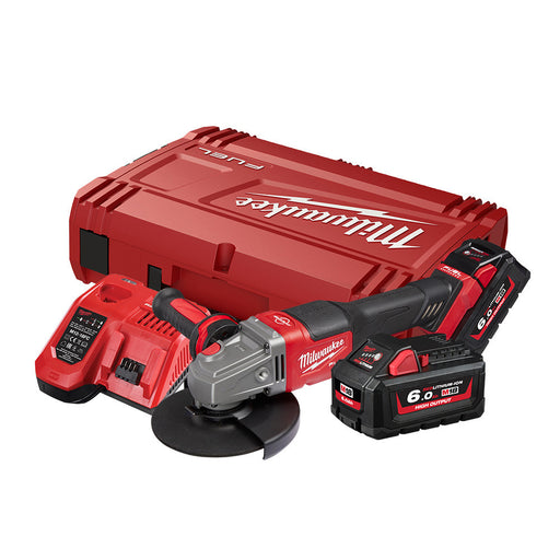 "Milwaukee 18V 125mm (5"") RAPID STOP Angle Grinder 6.0Ah Kit M18FSAG125XPDB-602"