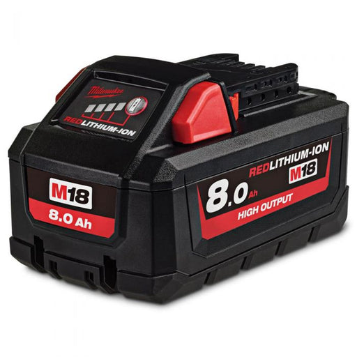 Milwaukee M18 REDLITHIUM High Output 8.0Ah Battery Pack - M18HB8