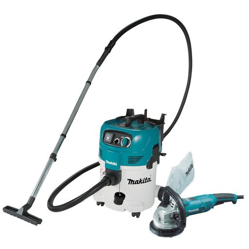 Makita 125mm Concrete Planer and 30L Wet/Dry M Class Vacuum PC5000C-VC30M