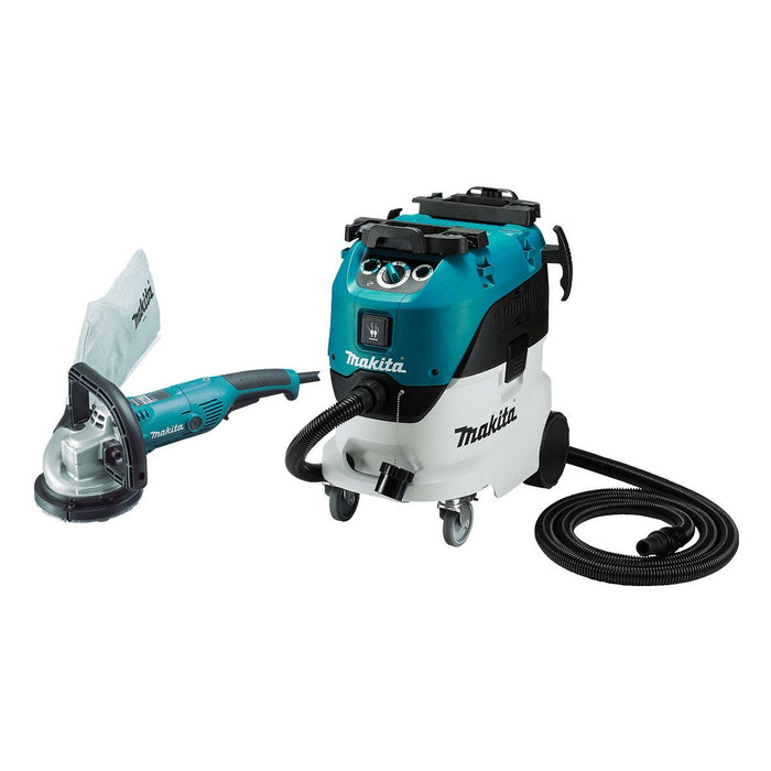 Makita 125mm Concrete Planer and 42L Wet/Dry M Class Vacuum PC5000C-VC42M
