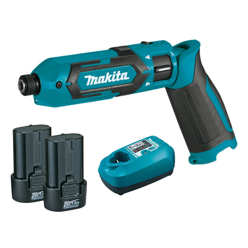 Makita 7.2V Pen Impact Driver Kit - Includes 2 x  1.5Ah Batteries, Charger & Carry Bag TD022DSE