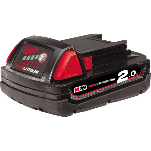 Milwaukee M18 RED LITHIUM 2.0Ah Battery Pack - Gift Box Packaging M18B2